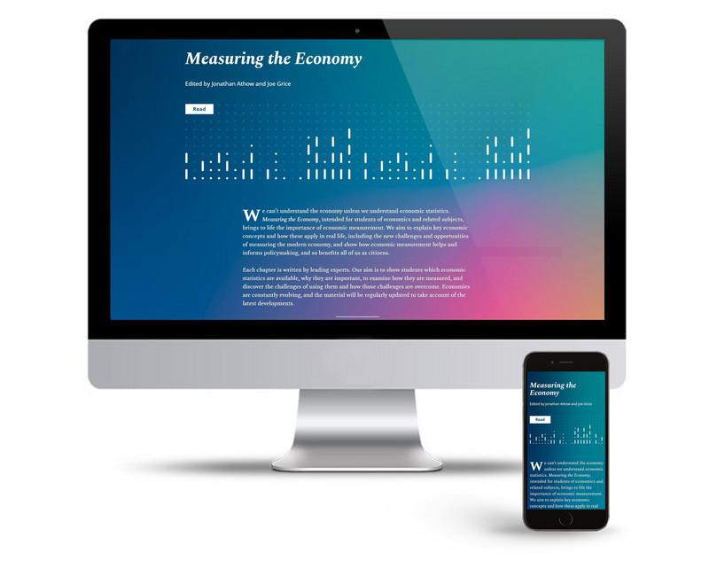 The Measuring the Economy home page on a large computer and a mobile phone
