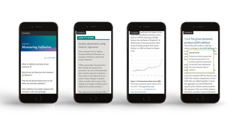 The Measuring the Economy website on mobile